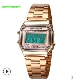 reloj mujer digital clásico Sanda oro rosado