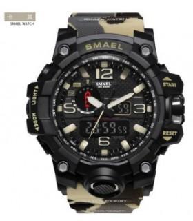 Reloj hombre militar Smael digital KAKI CAMUFLAJE militar