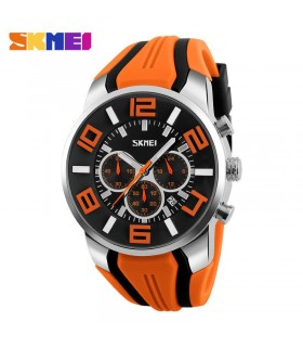 reloj hombre deportivo goma Skmei digital military sport men's watch rubber NARANJA