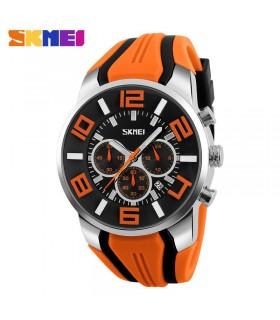 reloj hombre deportivo goma Skmei digital military sport men's watch rubber NARANJA