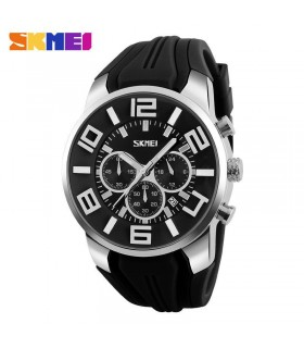 reloj hombre deportivo goma Skmei digital military sport men's watch rubber negro