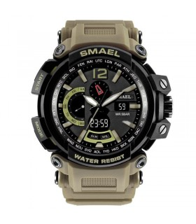 reloj militar SMAEL Men Watch Men Military Army Sport LED Digital Wristwatch kaki