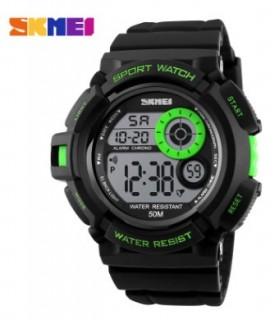 reloj digital hombre cadete Skmei negro verde