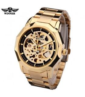 reloj hombre automático Winner 199 dorado acero reloj hombre automático Skeleton WINNER automatic me