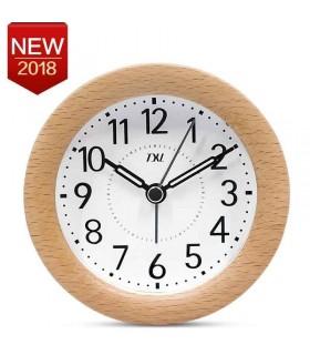 Reloj despertador diseño madera