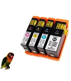 4 Tintas compatibles para Dell 31BK V525w V725w