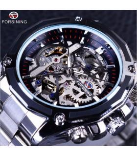 Reloj Caballero automatico correa acero forsining