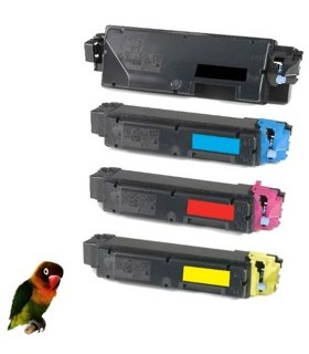 4 Toner compatibles con Kyocera Ecosys P7040 cdn TK-5160