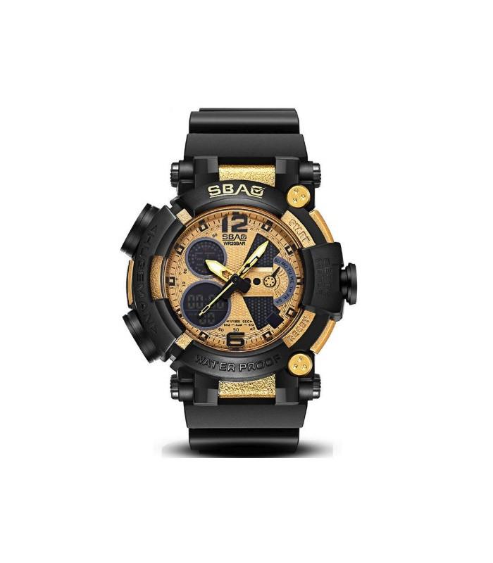 Reloj hombre SBAO Shock Resist Alarm 51mm Display Luminoso