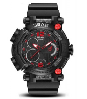 Reloj hombre SBAO Shock Resist Alarm Display Luminoso