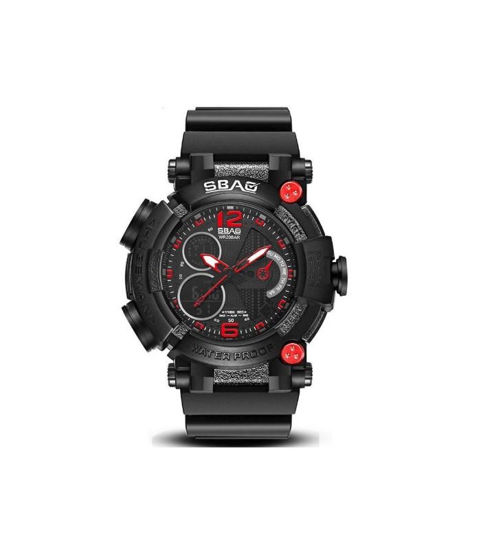 Reloj hombre SBAO Shock Resist Alarm Display Luminoso