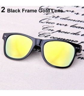 Gafas de sol polarizadas lente espejo Unisex
