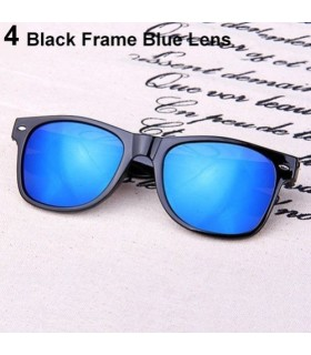 Gafas de sol Unisex polarizadas lente espejo azul