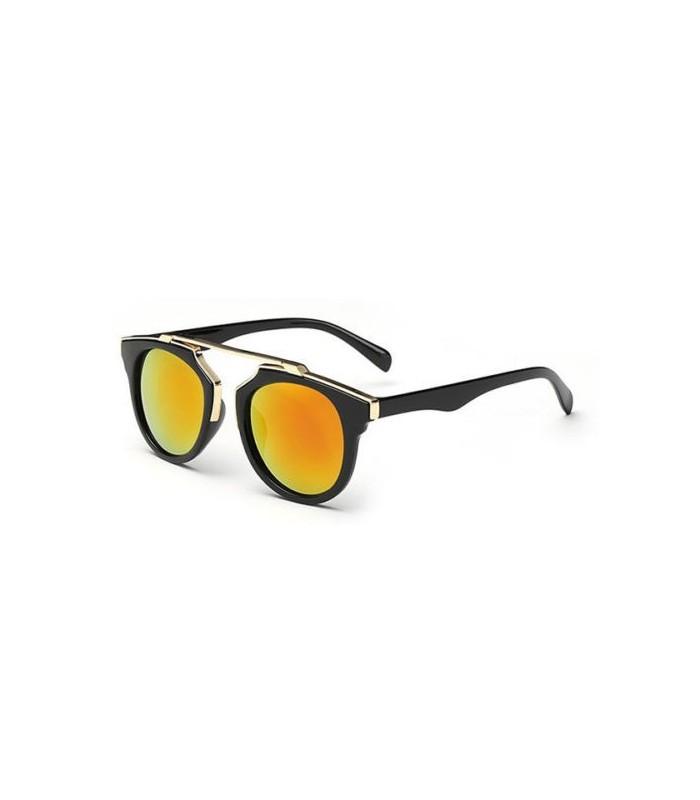 03700693a Gafas de sol Montura Metálica polarizadas mujer espejo gold - WWW ...
