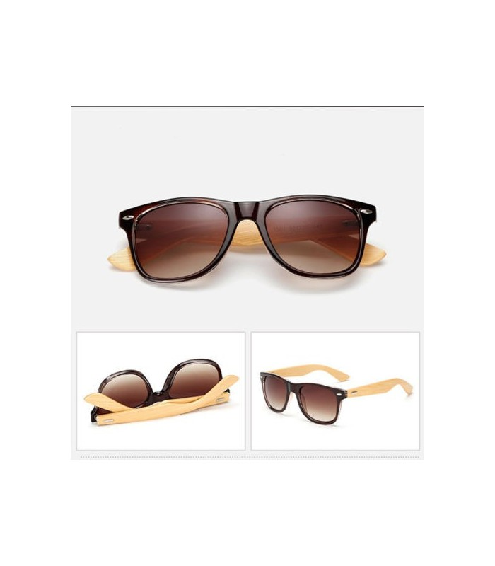 Gafas de sol montura madera BAMBU y carey