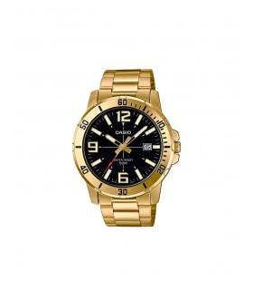 Reloj caballero CASIO analogico MTP-VD01GL-1EV correa de piel