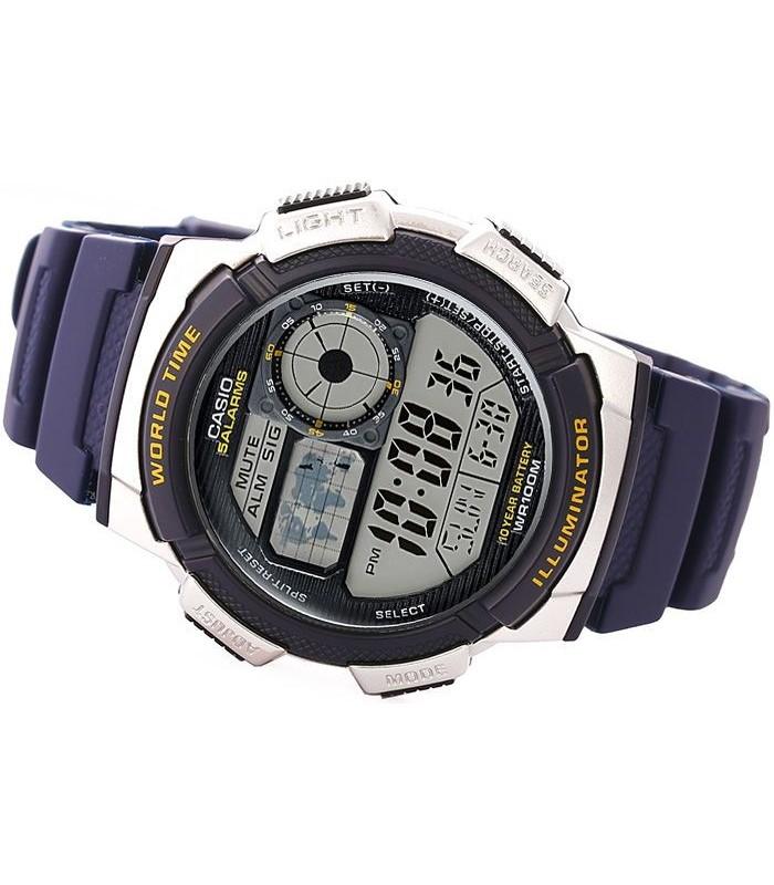 791f38629448 Reloj hombre Casio Digital AE-1000W-1A3 correa resina - hora mundial