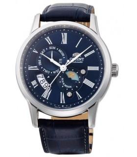 Reloj hombre automático Orient Sun & Moon FAK00005D correa cuero cristal zafiro