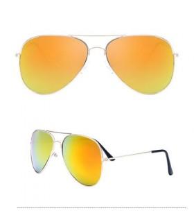 Gafas UNISEX dorada Moderno Aviador Lente Espejo