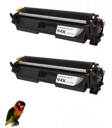 2 Toner compatibles CF294X 94X para HP LASERJET PRO M118 MFP M140 M148