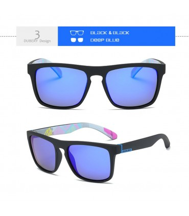Gafas de sol Dubery polarizadas para hombre lente azul