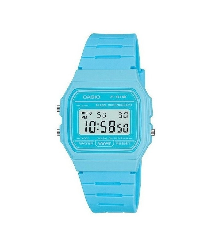 RELOJ digital Casio Azul Cielo F-91WC-2A UNISEX CASIO