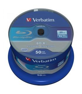 BLU-RAY BD-R HTL SL 25GB 6X VERBATIM DATALIFE TARRINA 50 UDS