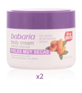 Pack 2 unidades Crema con ACEITE ALMENDRAS DULCES body cream pieles muy secas 250ml