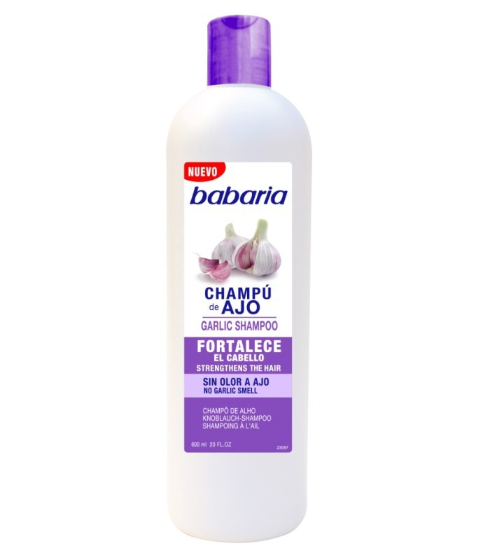 Champu de Ajo fortalece el cabello Babaria 600ml