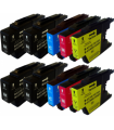 LC1240 pack 10 cartuchos compatibles Brother LC1240