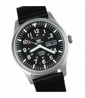 Reloj Automático Hombre Seiko 5 Sports SNZG15K1 correa tela