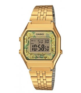Reloj Casio retro digital La680wega-9c vintage gold