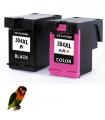 2 Tintas HP 304XL DeskJet 3720 3730 3732  compatibles alta capacidad negro-color