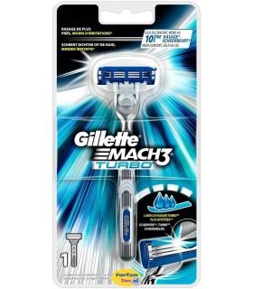 Cuchilla Gillette MACH3 TURBO + 1 recambio