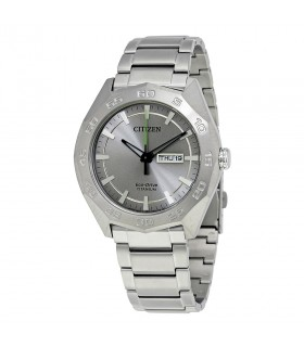 Reloj Automatico Hombre Citizen Eco-Drive AW0060-54A Men's Super Titanium Calendar 44mm Bracelet Watch