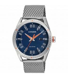 Reloj Hombre Citizen Eco-Drive BM6990-55L CTO Men's Blue Dial Mesh Bracelet 42mm Watch