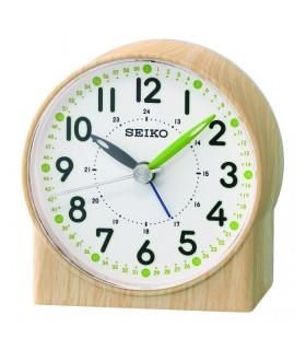 Reloj despertador Seiko  verde Lumibrite madera