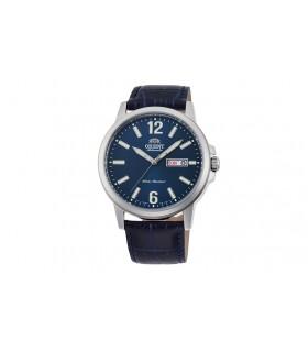 Reloj Automático Hombre Orient Commuter RA-AA0C05L dial azul correa cuero