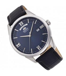 Reloj Automático Hombre Orient Contemporary RA-AX0007L0HB dial azul correa cuero