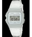 Reloj Clásico Casio F91WS-7 blanco correa resina 7 años batería alarma cronómetro