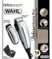 Wahl 79305-1316 HomePro Deluxe Cortapelos con accesorios con cable battery-powered plateado