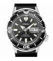 reloj automático buceo hombre Seiko Prospex Monster SRPD27K1 dial negro 42.4mm correa goma