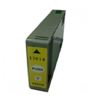 T7014 EPSON AMARILLO Cartucho Compatible EPSON T7014 AMARILLO WORKFORCE PRO/WP4000 SERIE/WP4500 SERIE/4525DNF/4015DN