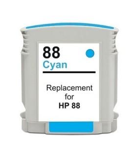 HP 88XL CIAN Cartucho de tinta para impresora hp 88XL CYAN compatible officejet pro series 28 ml. C9391A