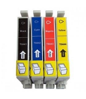 epson T0441/2/3/4 pack cartuchos compatibles c64 - c66 - cx3650 - c86 - c84 -cx 6600