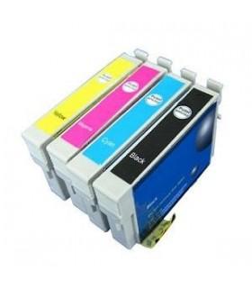 Epson T0611-T0612-T0613-T0614 pack 4 cartuchos compatibles NonOem Epson T0611/2/3/4