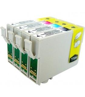 pack 4 tintas compatibles Epson T0551+T0552+T0553+T0554