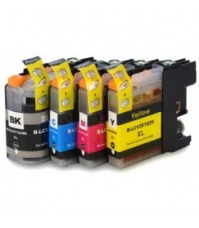 PACK 4 CARTUCHOS DE TINTA BROTHER LC-127 XL / LC-125 XL COMPATIBLE