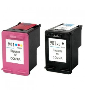 HP 901XL pack ahorro cartuchos compatibles HP 901XL BK + HP 901XL COLOR
