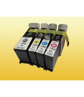 LEXMARK 100XL pack 4 cartuchos compatibles Lexmark 100xl (alta capacidad)
